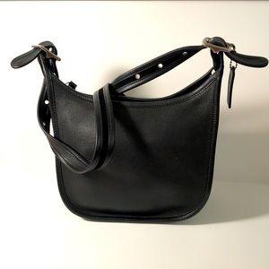 Coach Bag Soft Black Leather Crossbody Hobo Purse